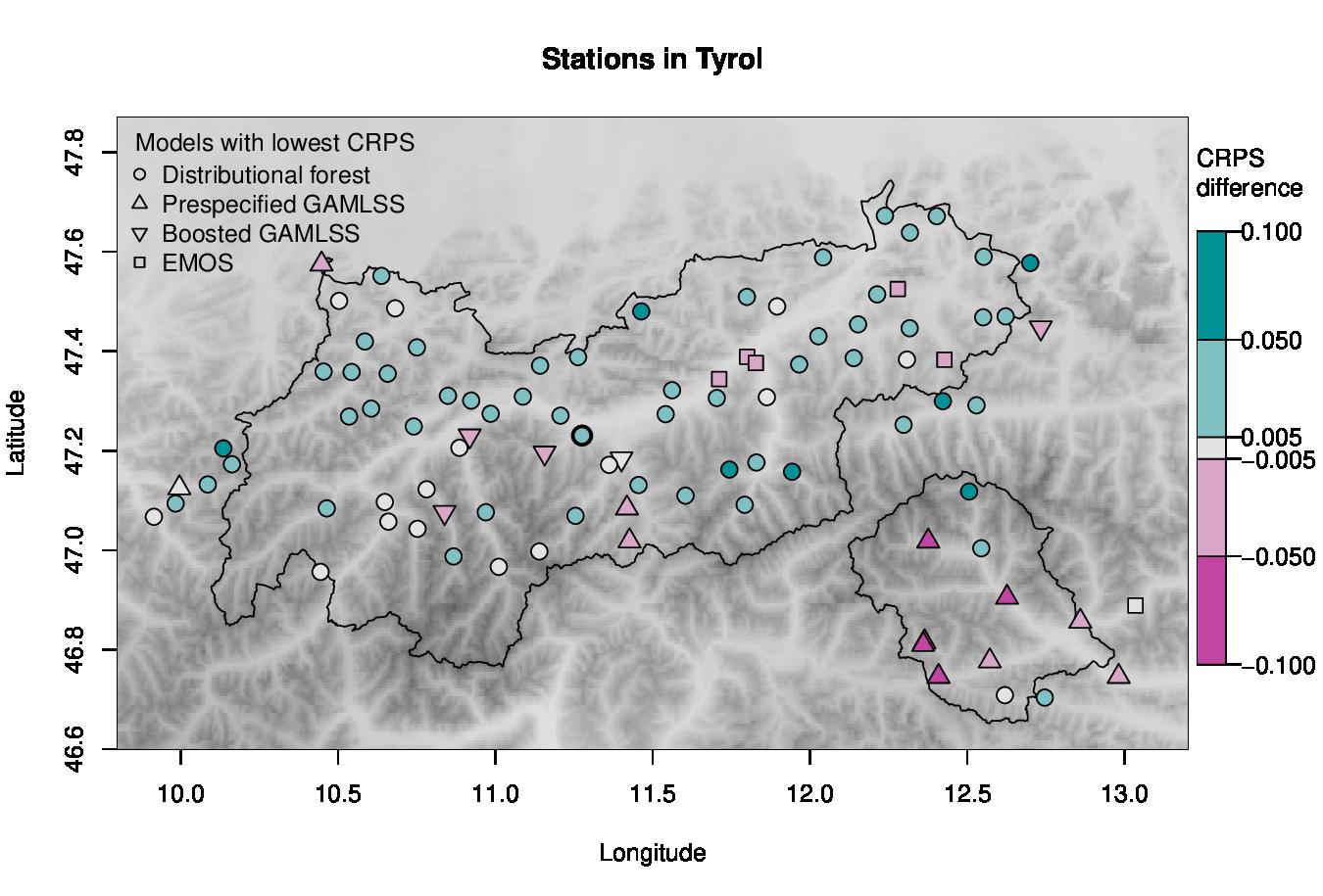 Precipitation forecast Tyrol